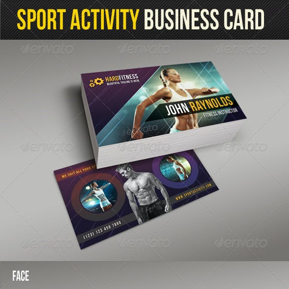 Sport Activity Business Card 03