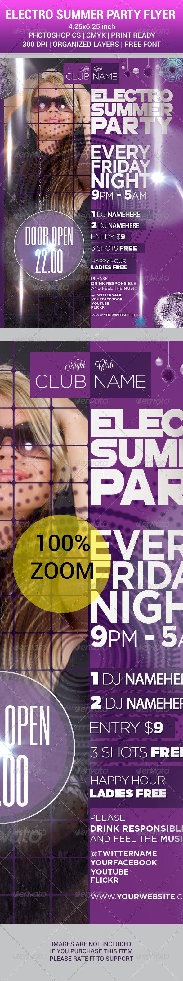 ELECTRO SUMMER PARTY 2014 Flyer - Clubs & Parties Events