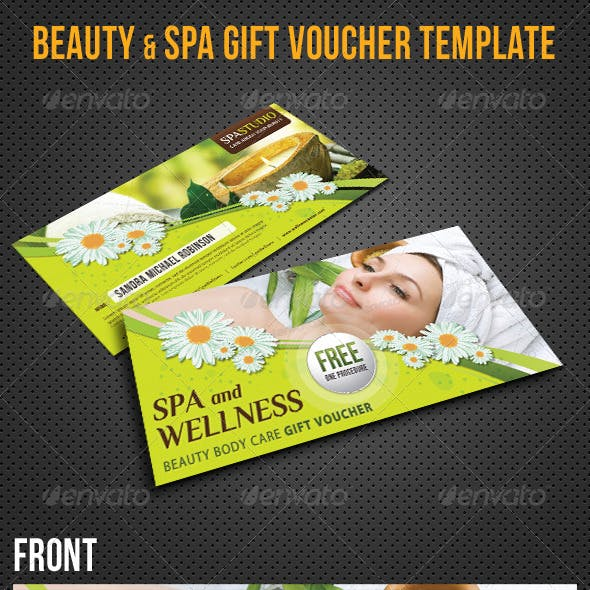 Beauty and Spa Gift Voucher V18