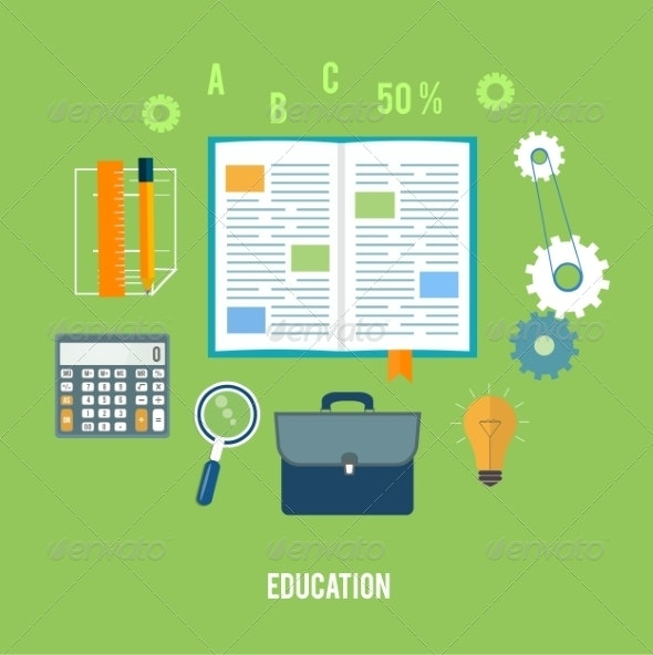 Business and Education Concept - Concepts Business