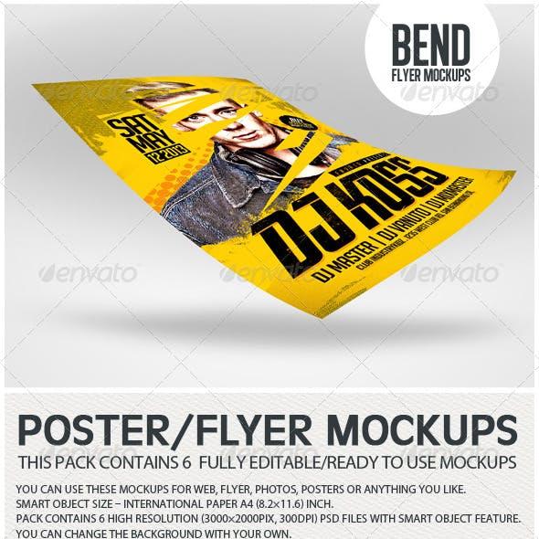 Bend Flyer Poster Mockups