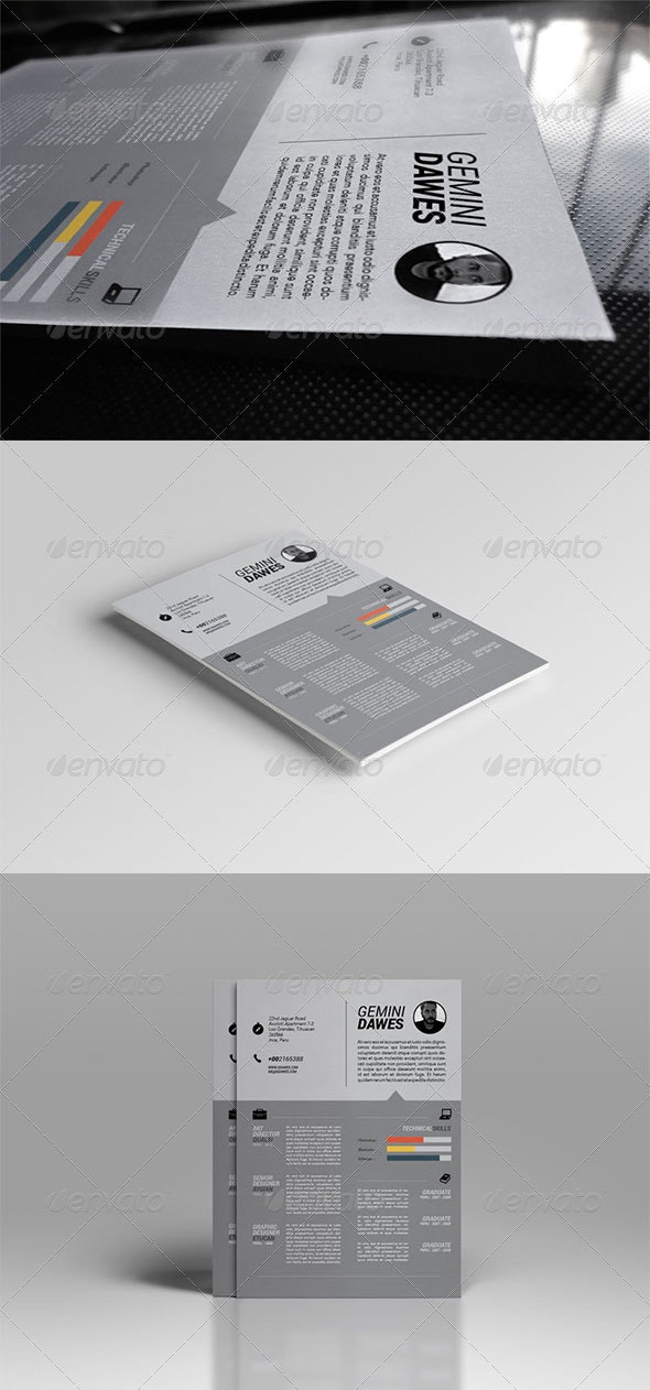 Ultra Clean Resume Template - Resumes Stationery