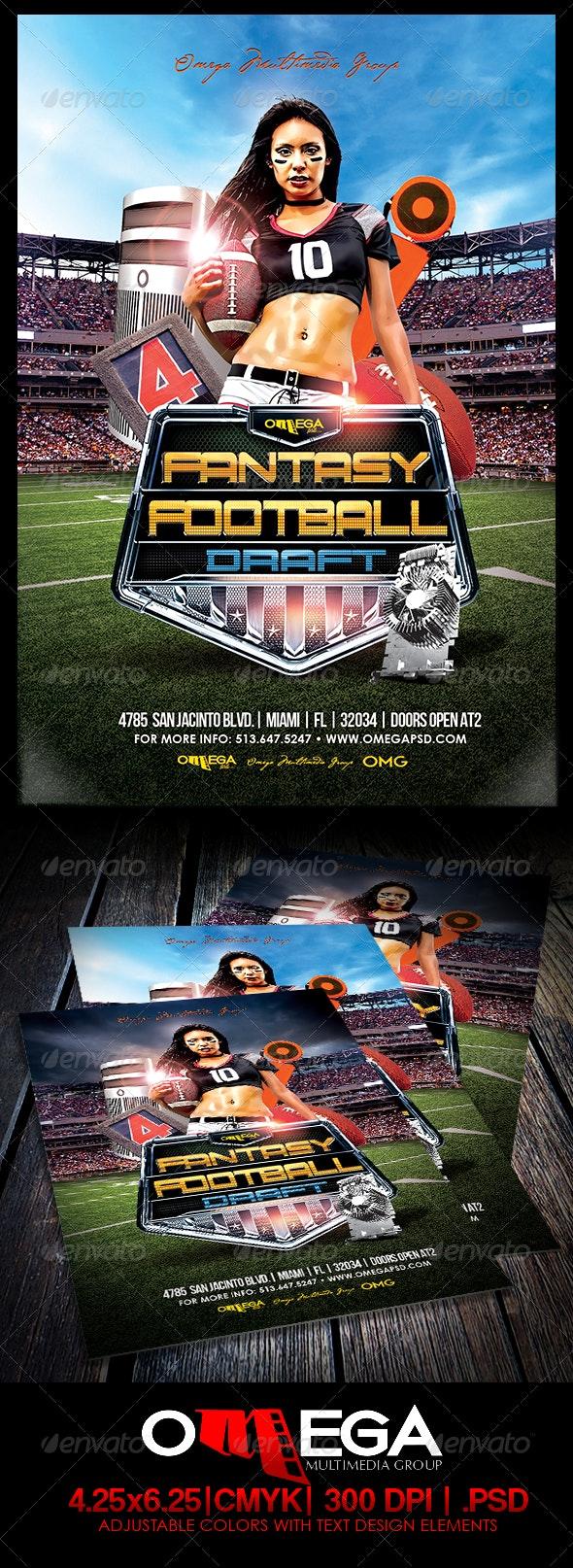 Fantasy Football Draft - Events Flyers