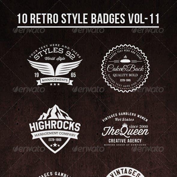 10 Retro Style Badges Vol-11