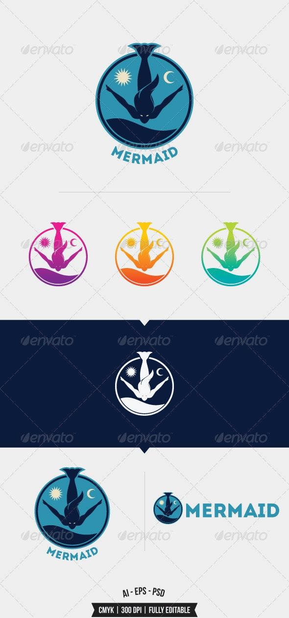 Mermaid Logo Template - Humans Logo Templates