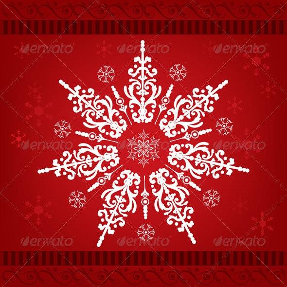 Snowflakes Christmas Ornament - Decorative Symbols Decorative