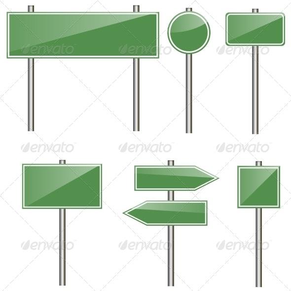 Road Signs - Travel Conceptual