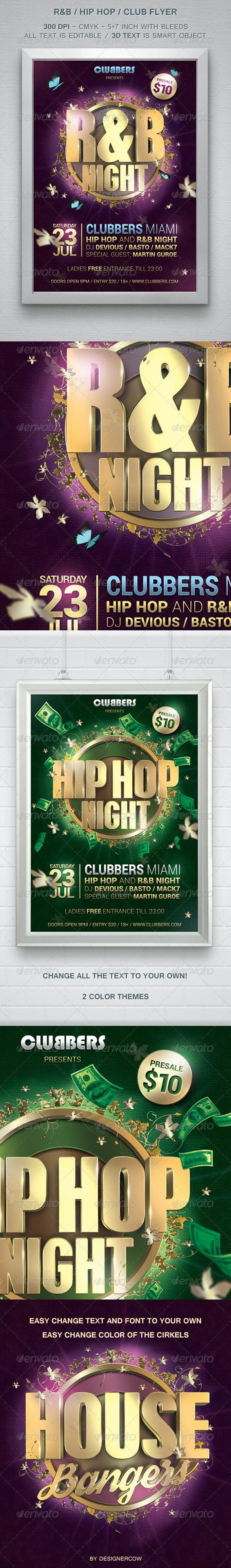 R&B Hip Hop Club Flyer - Flyers Print Templates