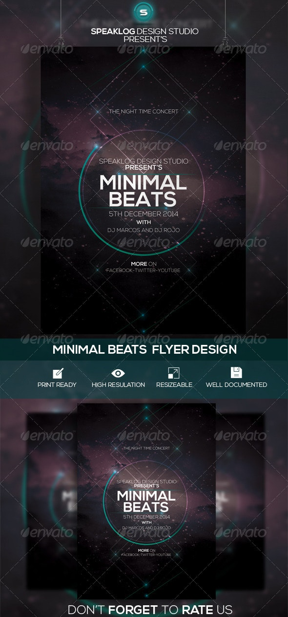 Minimal Beat's Event Flyer Design - Clubs & Parties Events