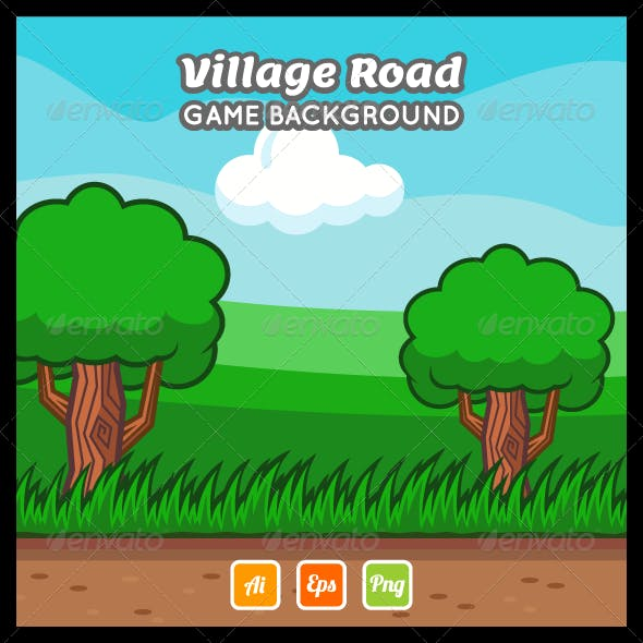 Village Road Game Background