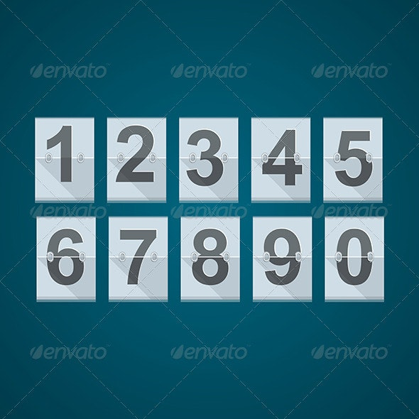 Set of Numbers for Mechanical Scoreboard. - Sports/Activity Conceptual