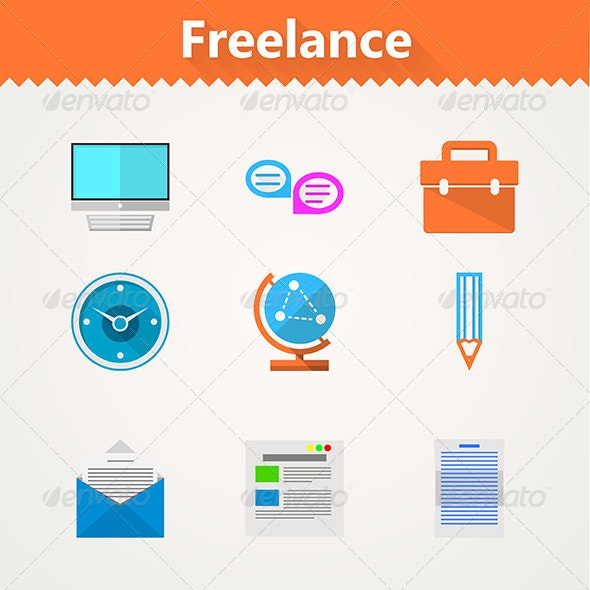 Flat Vector Icons for Freelance and Business - Concepts Business