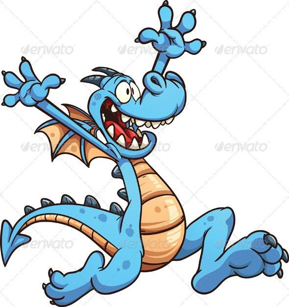 Cartoon Dragon - Characters Vectors