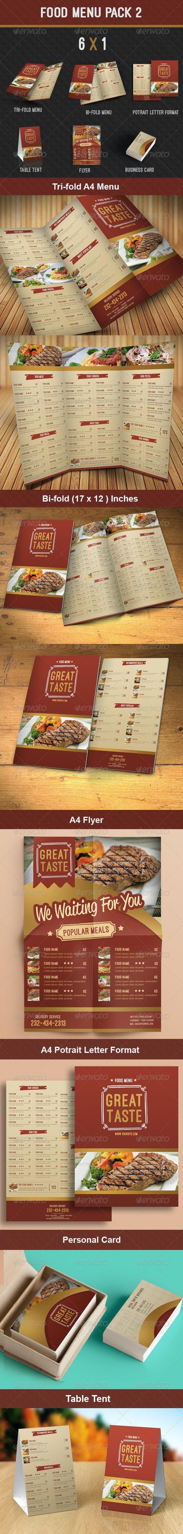 Food Menu Pack 2 - Food Menus Print Templates