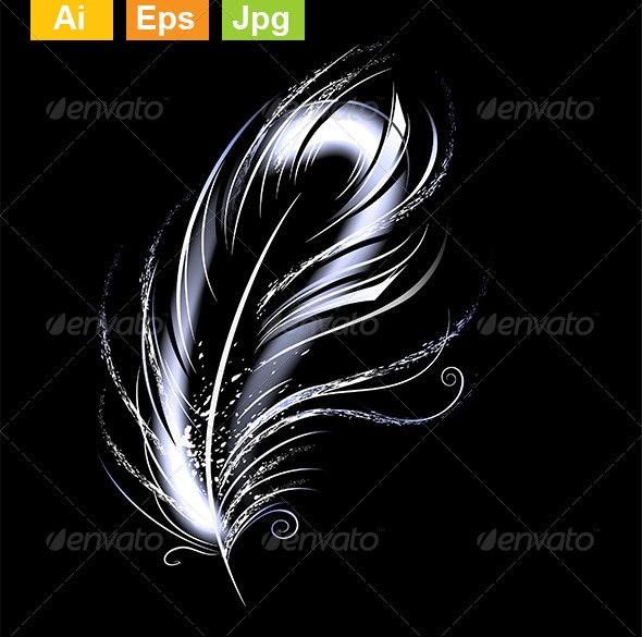 Luminous Feather - Decorative Symbols Decorative