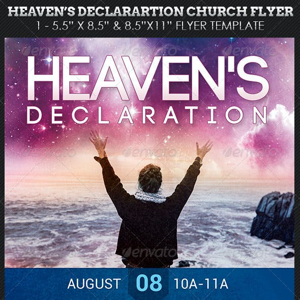 Heaven's Declaration Church Flyer Template