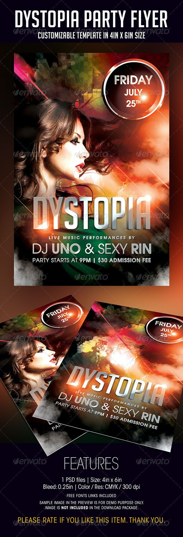 Dystopia Party Flyer - Flyers Print Templates