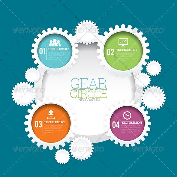 Gear Circle Infographic - Infographics