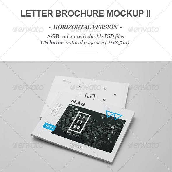 Horizontal Letter Magazine / Brochure Mock-up 2