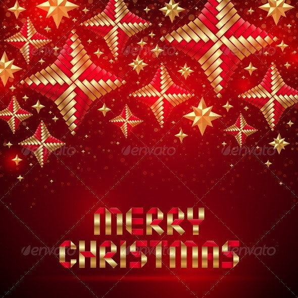 Vector Christmas Background With Wicker Baubles. - Christmas Seasons/Holidays