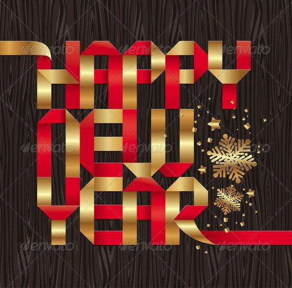 Christmas Paper Greeting - Seasons/Holidays Conceptual