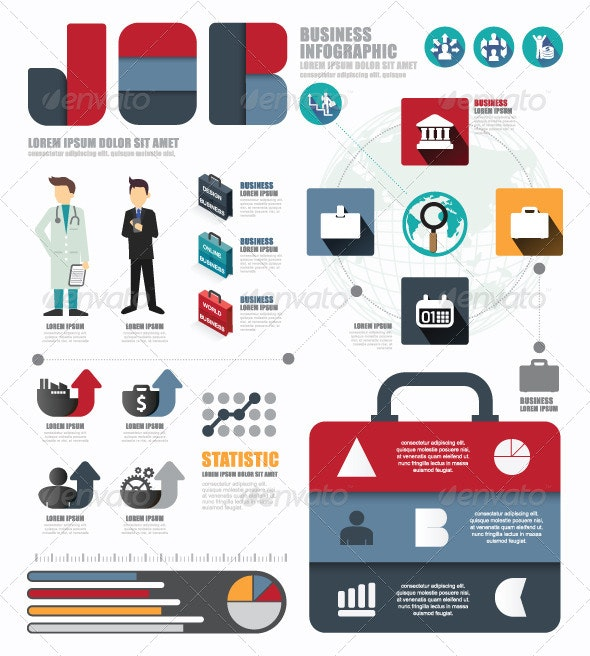 Infographic Business World  Job Template - Infographics