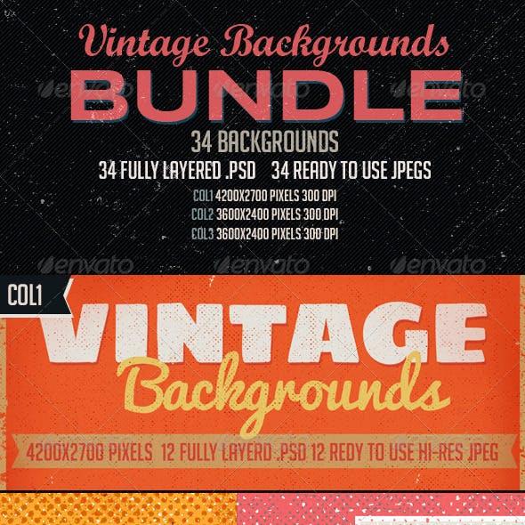 Vintage Backgrounds Bundle