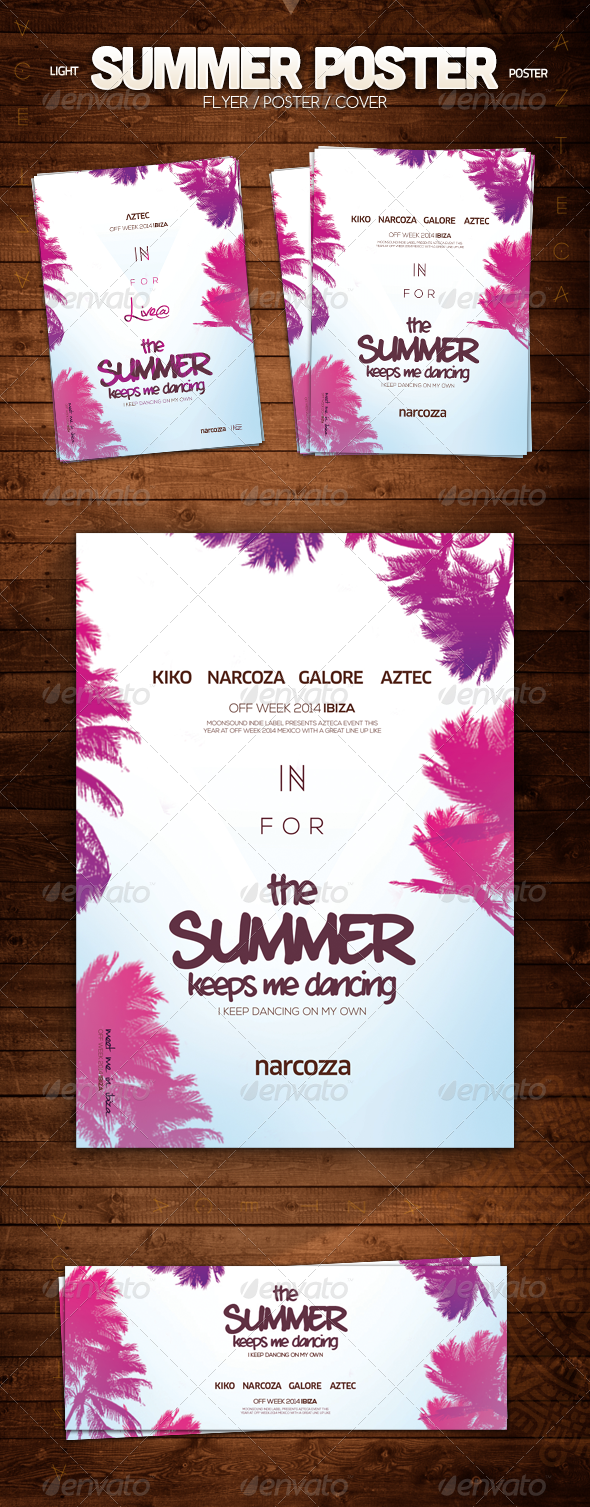 Summer Poster - Clubs & Parties Events