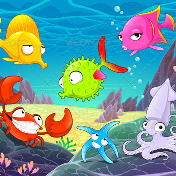 Happy Animals Under the Sea