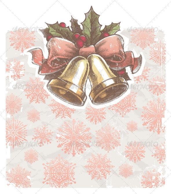 Christmas Holidays Illustration With Hand Bells - Christmas Seasons/Holidays
