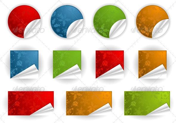 Collect Christmas Sticker - Christmas Seasons/Holidays