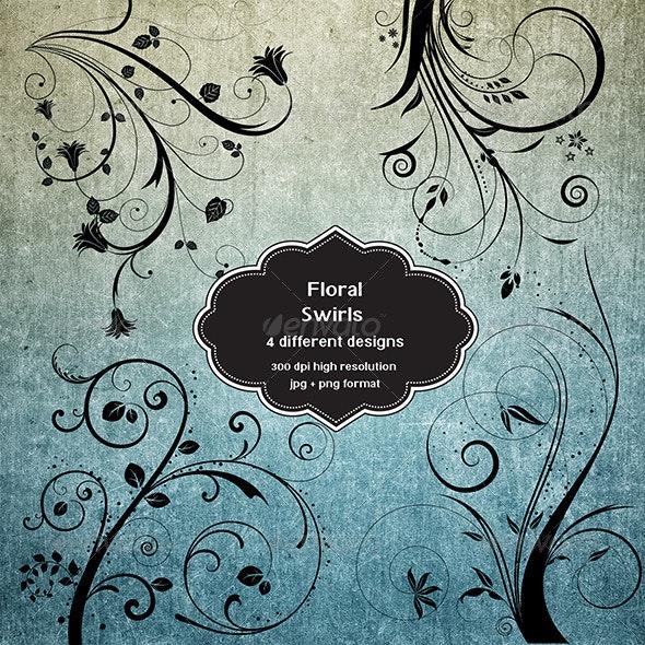 Floral Swirl Set - Flourishes / Swirls Decorative