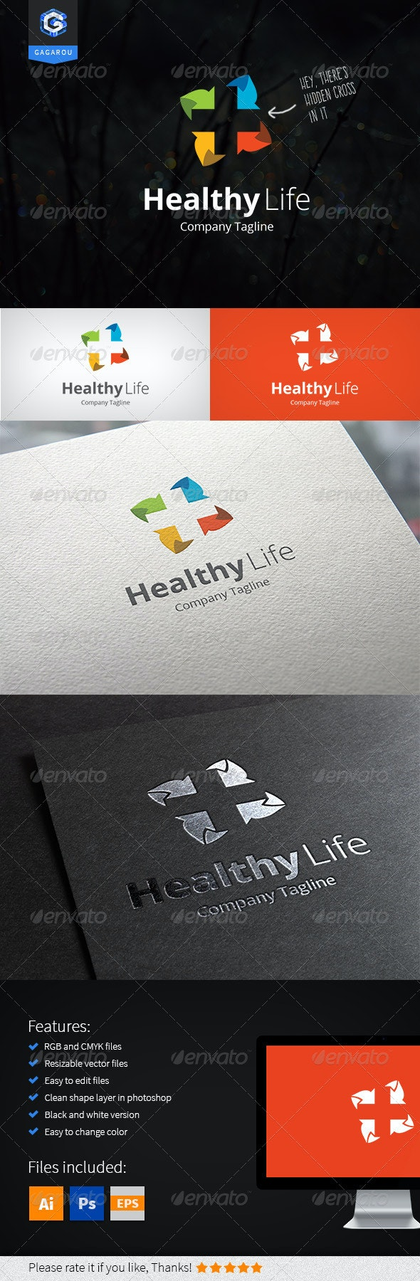 Healthy Life Logo - Abstract Logo Templates