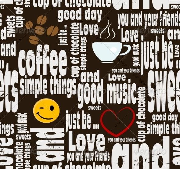 Coffee Seamless Pattern - Patterns Decorative