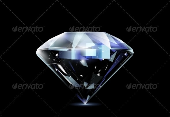Realistic Diamond - Miscellaneous Vectors