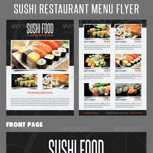 Sushi Restaurant Menu Flyer V01