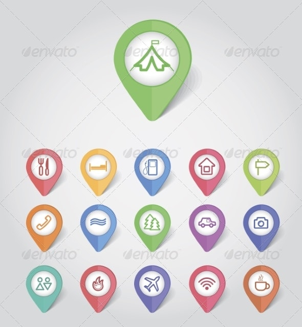Mapping Pins Icons Travel - Web Icons