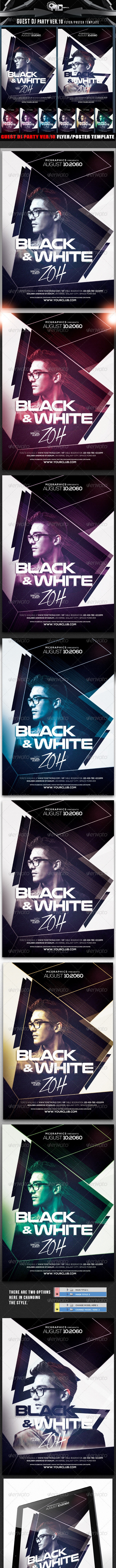 Guest DJ Party Ver.10 Flyer/Poster Template - Flyers Print Templates