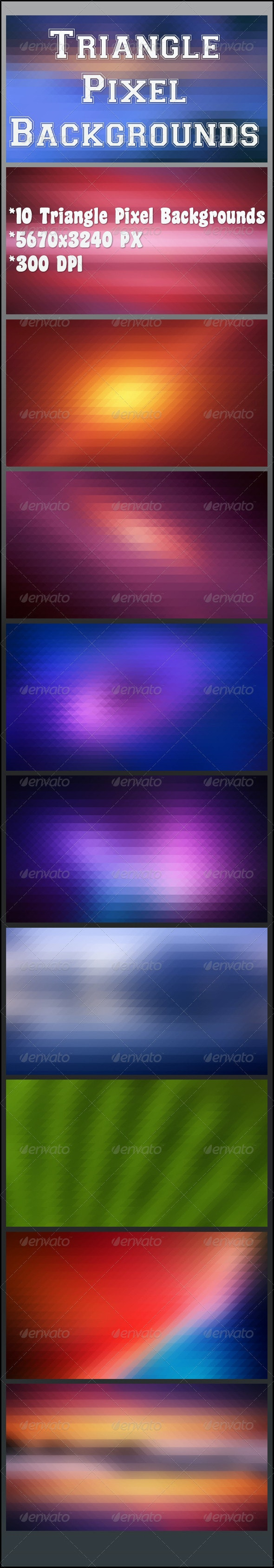 Triangle Pixel Backgrounds - Abstract Backgrounds