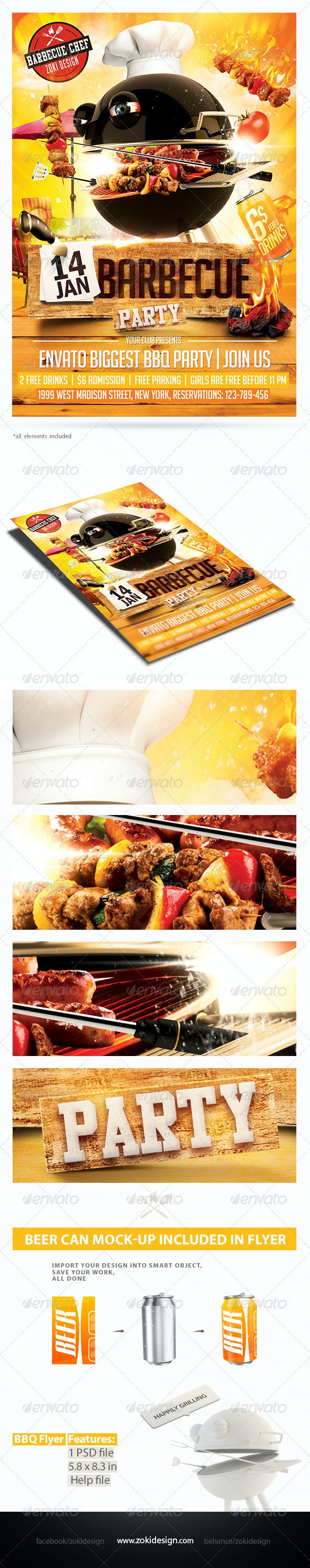 Barbecue Party Flyer - Clubs & Parties Events