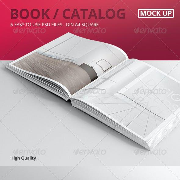 Book / Catalog Mock-Ups Square