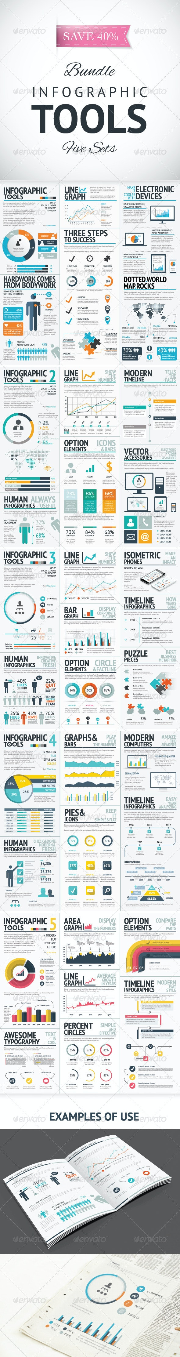 Infographic Vector Elements Bundle - Infographics