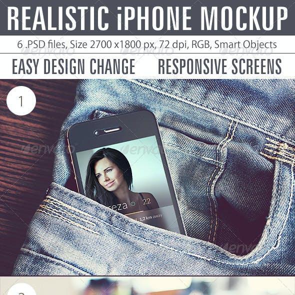 Realistic iPhone Mockup