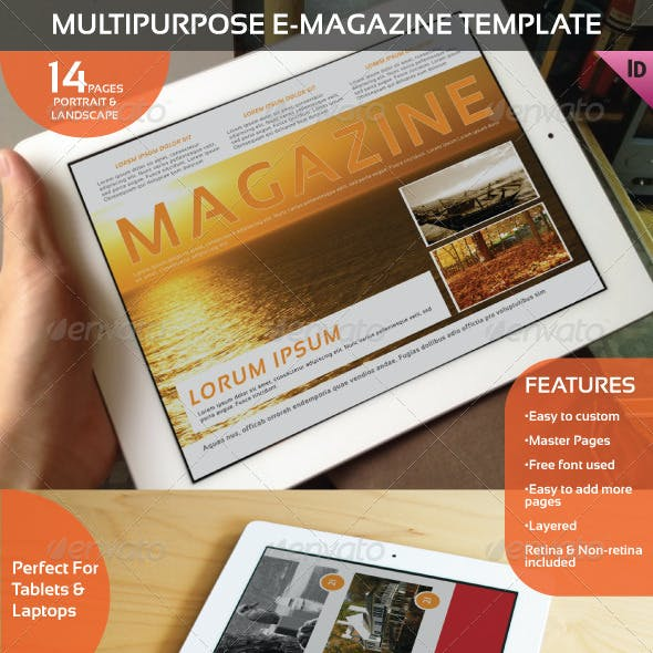 Multipurpose E-Magazine Template