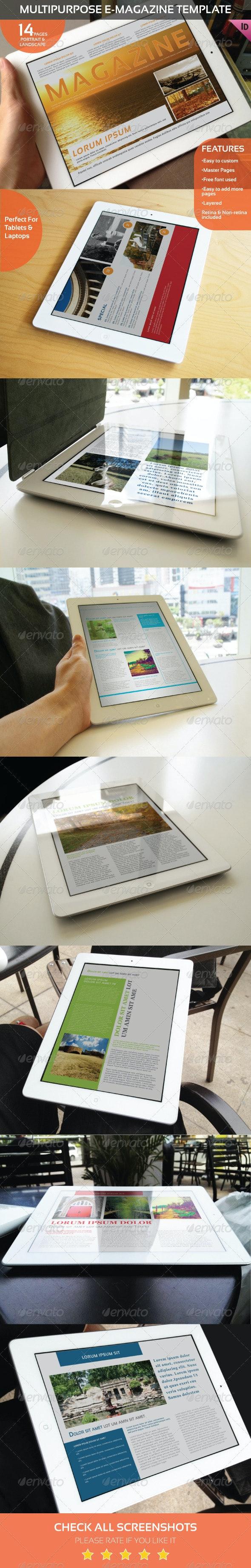 Multipurpose E-Magazine Template - Digital Magazines ePublishing