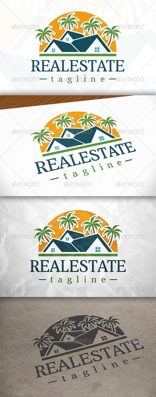 Beach Real Estate Logo - Buildings Logo Templates