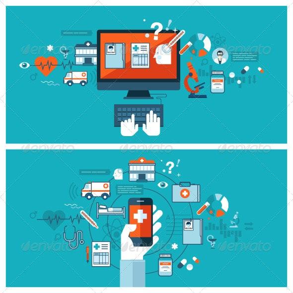 Online Medical Diagnosis and Treatment - Health/Medicine Conceptual