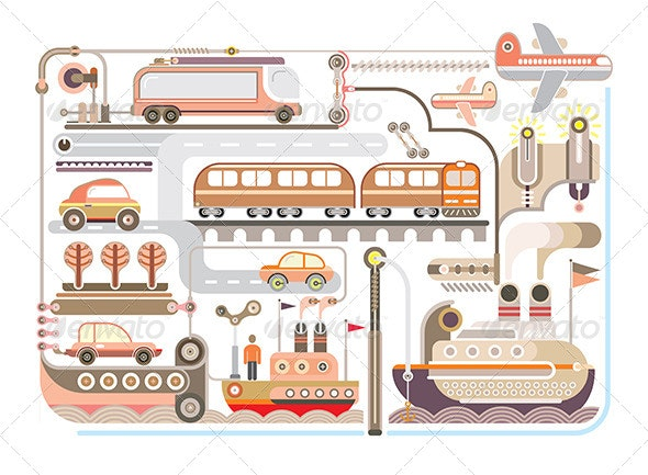 Travel and Transport Illustration  - Travel Conceptual