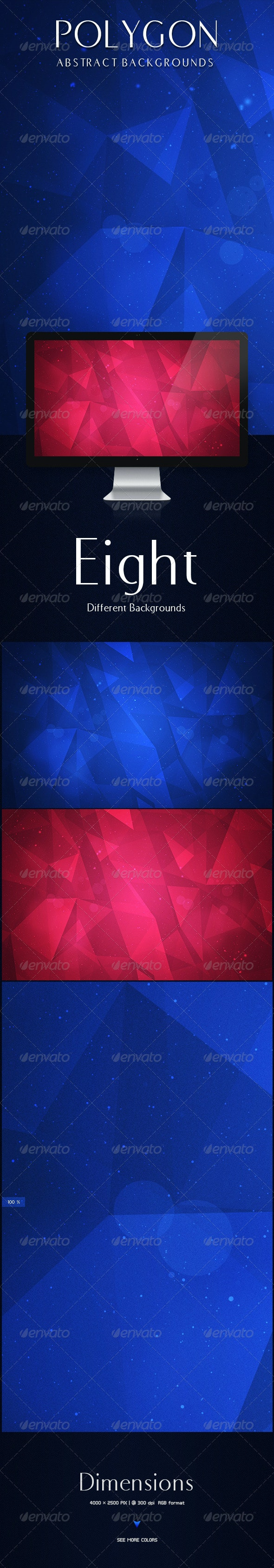 Polygon Abstract Backgrounds  - Miscellaneous Backgrounds