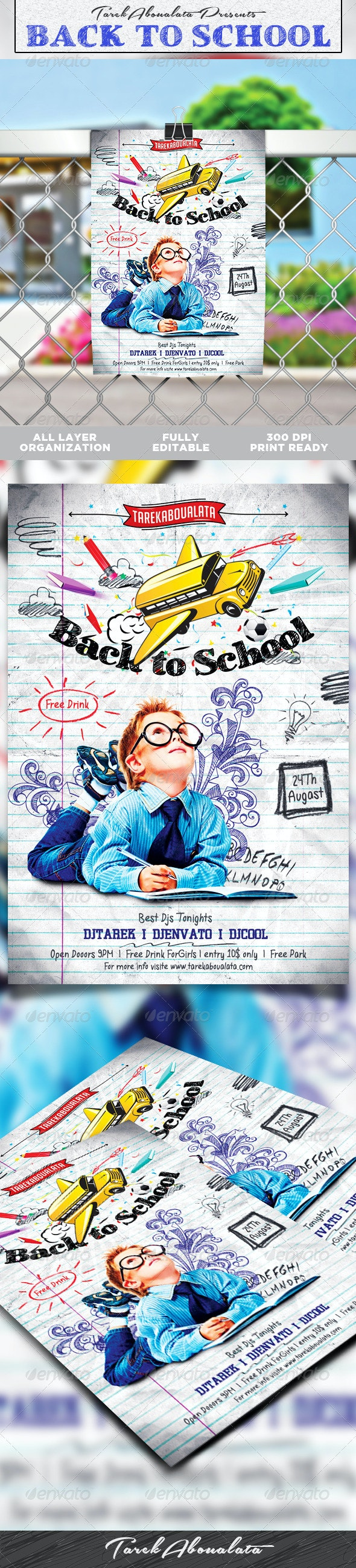 Back to School Flyer Template v.2 - Clubs & Parties Events